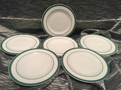 6 70s dessert plates vintage Tognana porcelain made in Italy