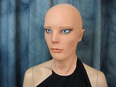Latexmaske LIV STARLET +AUGEN Real. Frauenmaske Gummi Frau Zofe Trans Swinger 9