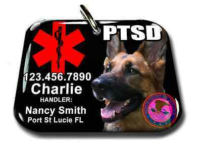 61b9055b240b ... Service Dog ID Tag and Badge PTSD custom photo id card pet tag  customized BLACK 3