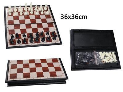 Scacchiera magnetica da viaggio per auto treno aereo scacchi magnetici 21x21 cm