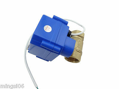 1x motorized ball valve 12V,DN20,with manual switch,2 way,electrical valve,brass 2