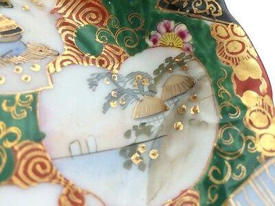 Set of 2 Antique Old Japanese Kutani Ware Porcelain Bowl Painted Gilt Signed NR! 12