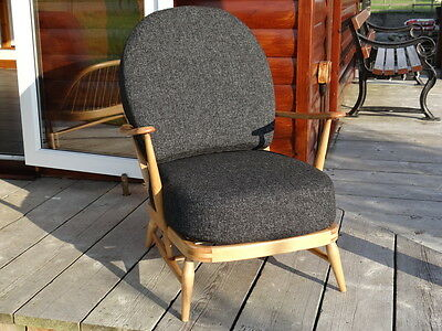 Cushions & Covers Only. Ercol 203 Chair. Charcoal Grey Stitch 8