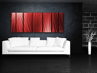 Modern Abstract Metal Wall Art Red Painting Sculpture Home Decor Indoor Outdoor 4