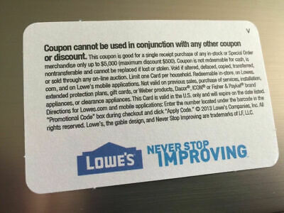 (20X) LOWES Card Coup0ns 10% OFF At Competitors Home Depot ONLY Ex 10/15/20 GIFT 3