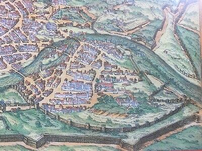 Old Antique Historic Map Rome, Italy: 1572 by Braun & Hogenberg REPRINT 1500's 4