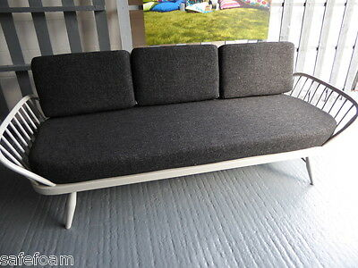 Cushions & Covers Only. Ercol Studio Couch/Daybed.  Charcoal Grey Stitch 2
