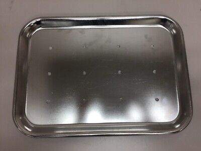 Polar Ware 13F Stainless Steel Serving Tray with Rolled Bead 13-11//16 L x 9-13//16 W x 3//4 H