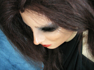 Latexmaske KEIRA B+WIMPERN +PERÜCKE Real. Frauenmaske Gesicht Trans Crossdresser 4