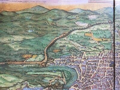 Old Antique Historic Map Rome, Italy: 1572 by Braun & Hogenberg REPRINT 1500's 8