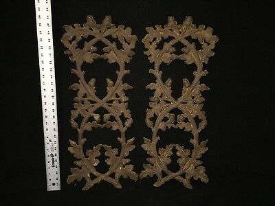 Vintage Iron Wall Or Garden Panels Of Leaves And Acorns 12