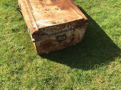 Shabby chic Vintage Antique Indian Travelling Suitcase Case Box Chest Display 5
