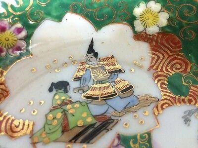 Set of 2 Antique Old Japanese Kutani Ware Porcelain Bowl Painted Gilt Signed NR! 9