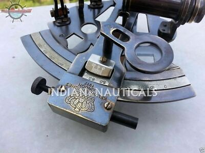 Brass Maritime SEXTANT Nautical Style Solid KELVIN & HUGHES Antique Brass Ship 2