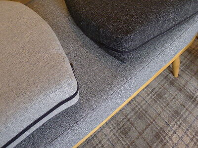 Cushions & Covers Only. Ercol Studio Couch/Daybed.  Charcoal Grey Stitch 12