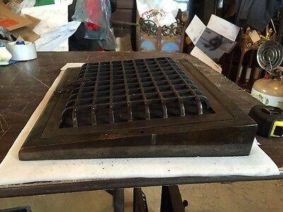 Antique Heating Grate Cast Iron Simple Squares Tc 66 2