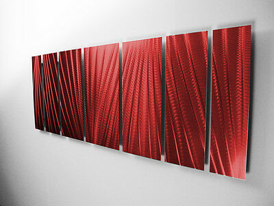 Modern Abstract Metal Wall Art Red Painting Sculpture Home Decor Indoor Outdoor 3