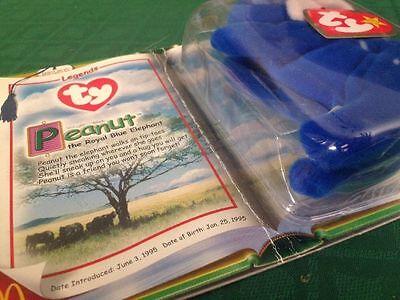 5e5c508fc7f ... Rare Ty Legends Peanut the Royal Blue Elephant McDonald s Teenie Beanie  Babies