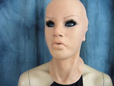 Latexmaske MAYLEE +WIMPERN - Real. weibliche Frauenmaske Gummimaske Crossdresser 4