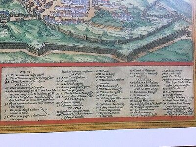 Old Antique Historic Map Rome, Italy: 1572 by Braun & Hogenberg REPRINT 1500's 3