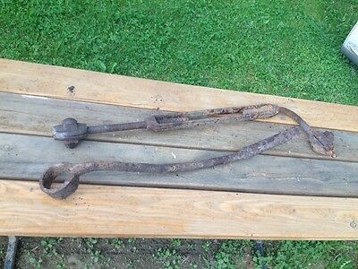 Turnbuckle IRON Steampunk Rusty Junk art Primitive Oil Rig 1800 Wagon Antique 3' 4