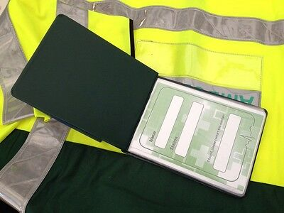 EMT Green Edition A6 Hardback Wallet 14 Prompt Cards Technician Ambulance Aid