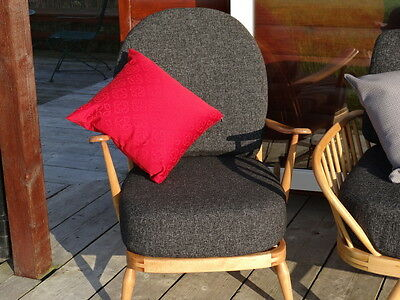 Cushions & Covers Only. Ercol 203 Chair. Charcoal Grey Stitch 4