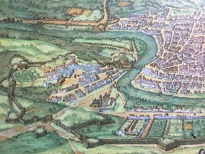 Old Antique Historic Map Rome, Italy: 1572 by Braun & Hogenberg REPRINT 1500's 7