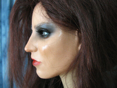 Latexmaske KEIRA B+WIMPERN +PERÜCKE Real. Frauenmaske Gesicht Trans Crossdresser 3