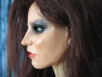Latexmaske KEIRA +WIMPERN +PERÜCKE Real. Frauenmaske Gesicht Trans Crossdresser 2