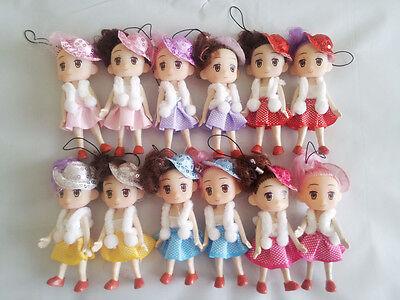 9cm Doll for Mini Ddung Dolls with Double Buns Hair Baking Mold Dolls GirlTO xo