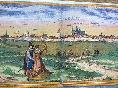 Old Antique Map Orleans, Bourges, France: 1575 Braun & Hogenberg REPRINT 1500's 2
