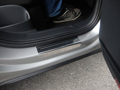 VW Tiguan Mk2 Stainless Steel Sill Protectors / Kick Plates 4