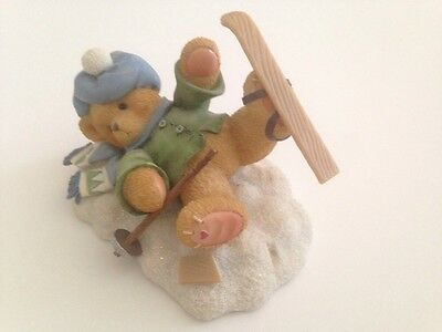 Cherished Teddies SPENCER - I'm Head Over Skis For You - Enesco Collectible