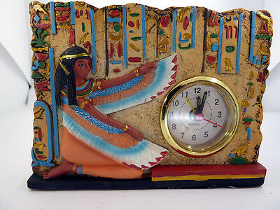 Egyptian Winged Isis Clock, Fine Ancient Egyptian Statues 2