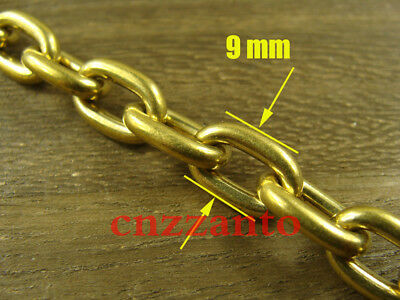7//8//9.4//11mm  3 Feet solid brass flat curb chain wallet key Fob chain crafts