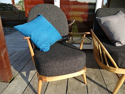 Cushions & Covers Only. Ercol 203 Chair. Charcoal Grey Stitch 5