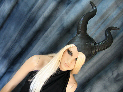 HÖRNER HAUBE SUCCUBUS Latex Horn Hexe Pagan Wicca Witch Maleficent WOW Maske