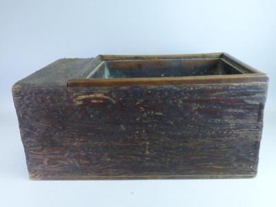 Japanese Wood Tea Tansu or Hibachi Lot 618