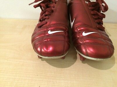 Nike Total 90111 Air Zoom Red Kids Junior Football Boots Uk 6 Eur 40 2