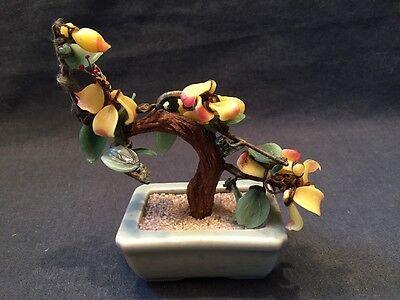 GLASS BONSAI TREE ORIENTAL CELADON POT ORNAMENT  Very Colourful (ref P242) 2