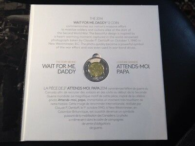 2014 Canada $2 Coin Wwii Commemorative Wait For Me Daddy Mint Coin In RCM Album. 8