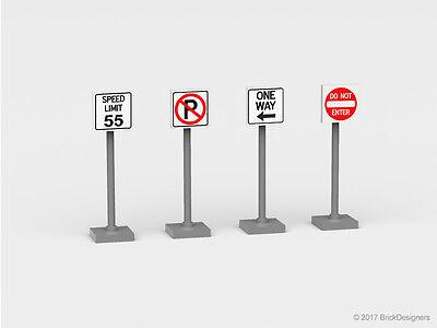 Set # 3 Custom Lego Road Sign stickers