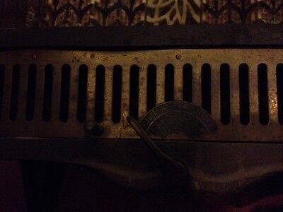 Steampunk 1900s IRON Steel Brass GAS FIREPLACE INSERT REZNOR Orthoray Rare Vtg 2