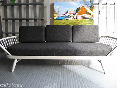 Cushions & Covers Only. Ercol Studio Couch/Daybed.  Charcoal Grey Stitch 11