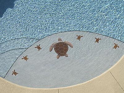 TURTLE LOGGERHEAD GROUP Ceramic Swimming Pool Mosaic Wall ...