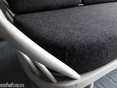 Cushions & Covers Only. Ercol Studio Couch/Daybed.  Charcoal Grey Stitch 4
