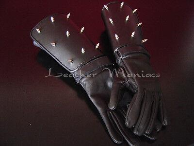 Ghost Rider Lederhandschuhe Motorradhandschuhe mit Nieten Handschuhe Leder