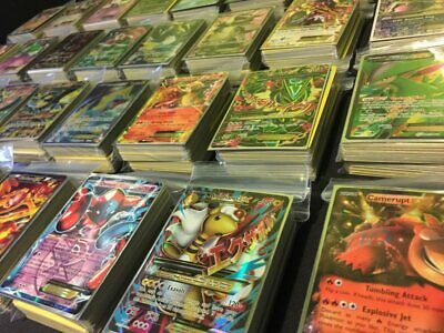 Pokemon Card Lot 100 OFFICIAL TCG Cards Ultra Rare Included - GX EX MEGA + HOLO 2