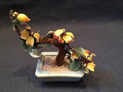 GLASS BONSAI TREE ORIENTAL CELADON POT ORNAMENT  Very Colourful (ref P242) 3